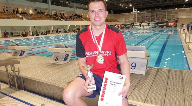 Michael Ritter gewinnt den Supercup über die Bruststrecken mit 3 Siegen beim Internationalen Supercup  des Berliner Schwimmclubs TSC