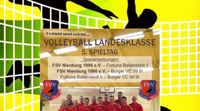 Heimspiel Volleyball Landesklasse 5.Spieltag am 08.01.2017