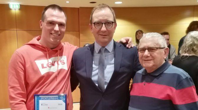 Michael Ritter belegt den 2. Platz bei der Sportlerwahl 2018 im Salzlandkreis