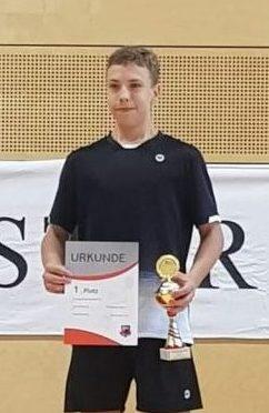 Gold im Einzel für Tarik Krukowski bei den Landeseinzelmeisterschaften U13 bis U19