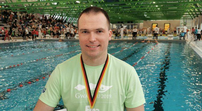 Michael Ritter holt Bronze über 50m Brust bei den 10. Deutschen Kurzbahnmeisterschaften der Masters in Freiburg im Breisgau